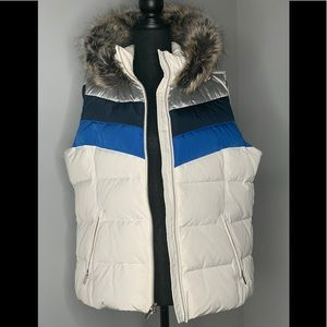 Land's End Hooded Down Puffer Vest Sz L
